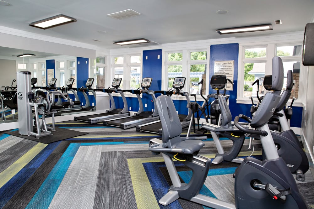 A fitness center with individual workout stations at 7029 West in Greensboro, North Carolina