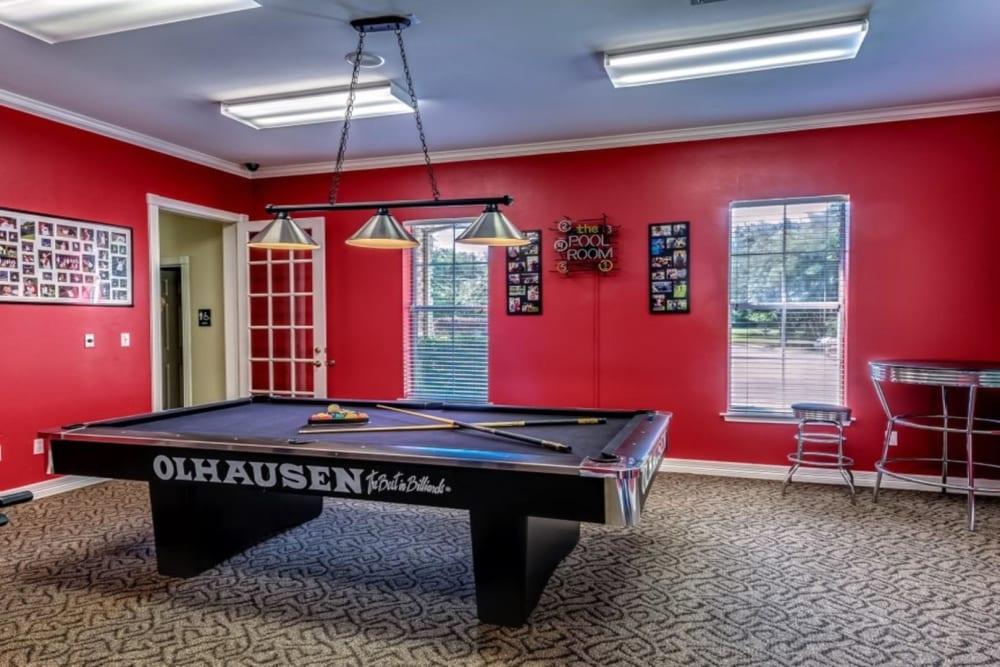Billiards table at Audubon Lake Apartment Homes in Lafayette, Louisiana