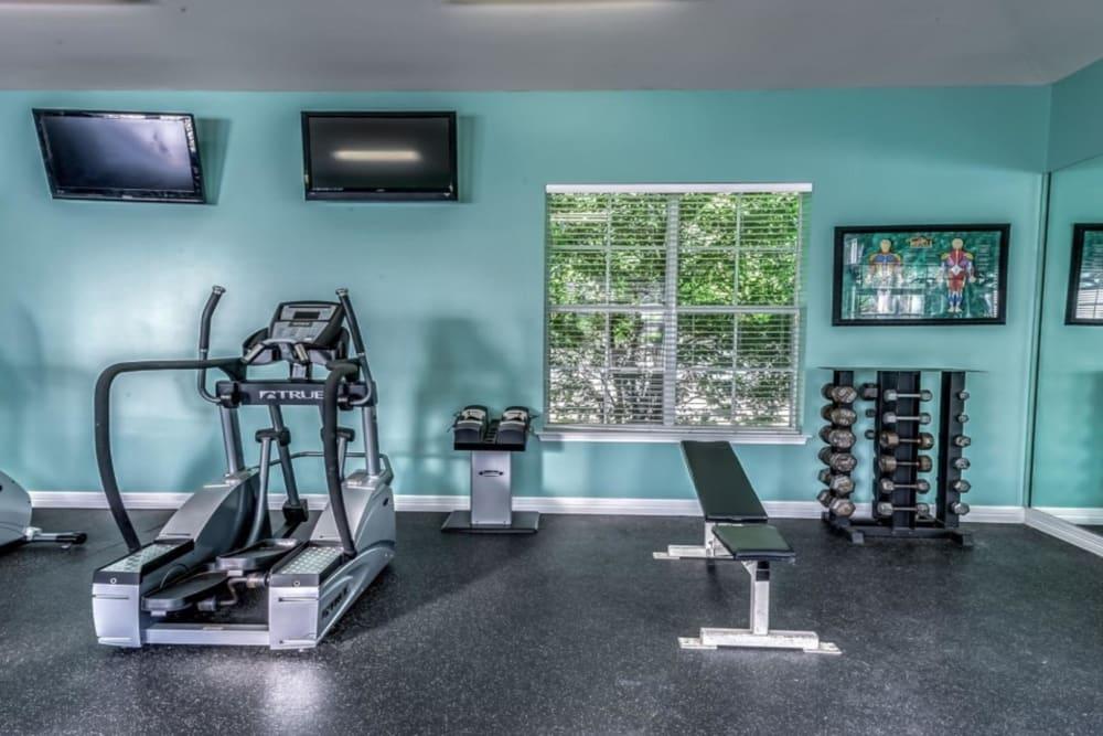 Fitness center at Audubon Lake Apartment Homes in Lafayette, Louisiana