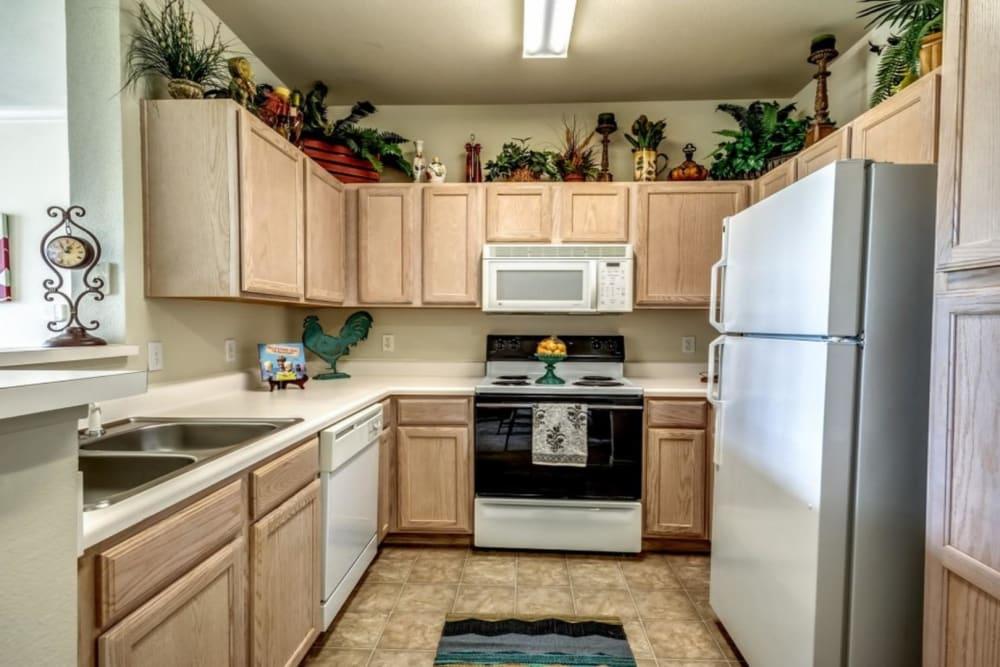 Spacious kitchen at Audubon Lake Apartment Homes in Lafayette, Louisiana
