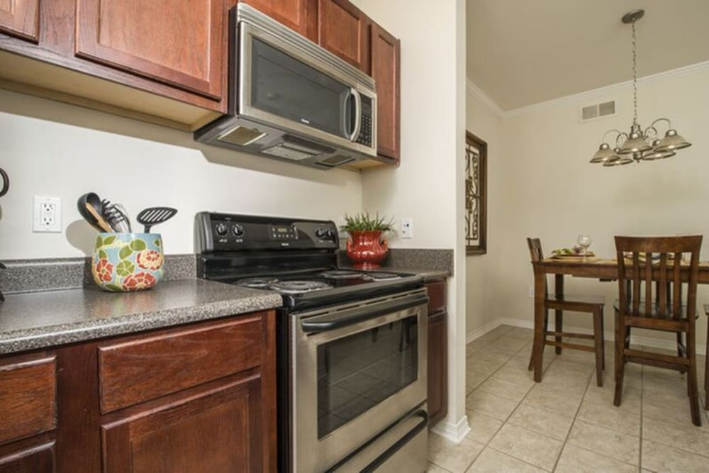 Kitchen at Harborside Apartment Homes in Slidell, Louisiana