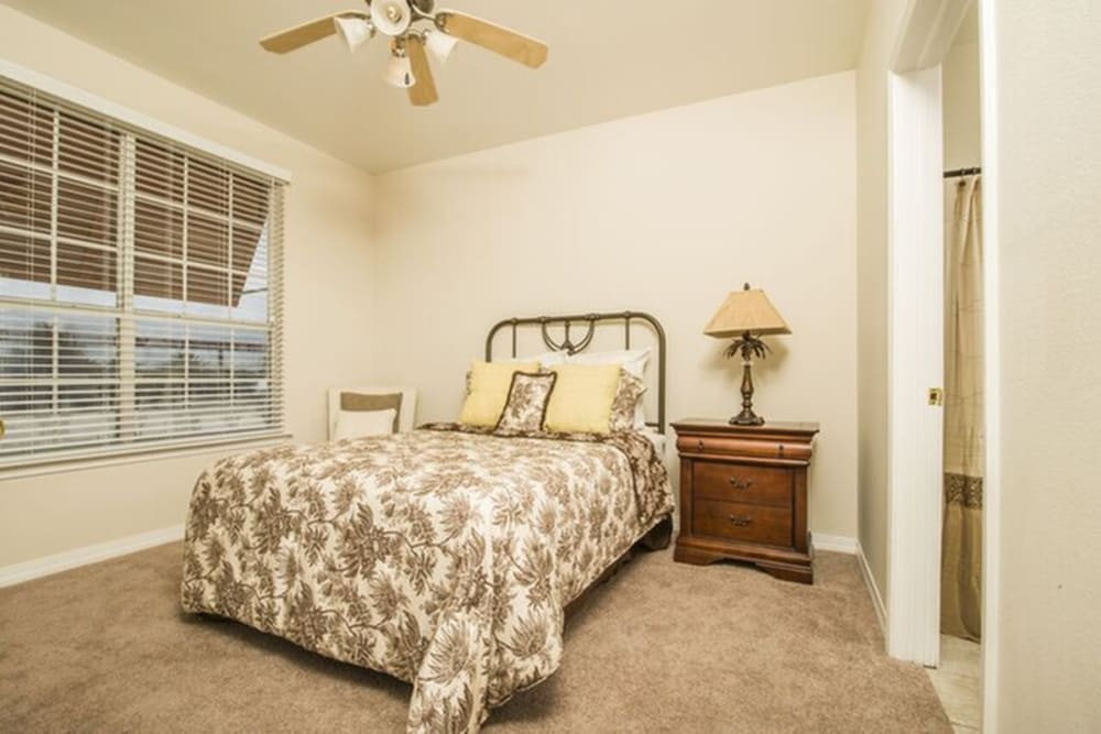 Spacious bedroom at Harborside Apartment Homes in Slidell, Louisiana