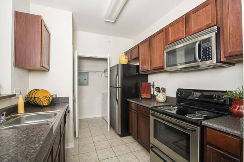 Spacious kitchen at Harborside Apartment Homes in Slidell, Louisiana