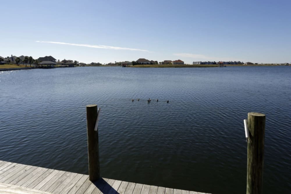 Water front boardwalk at Harborside Apartment Homes in Slidell, Louisiana