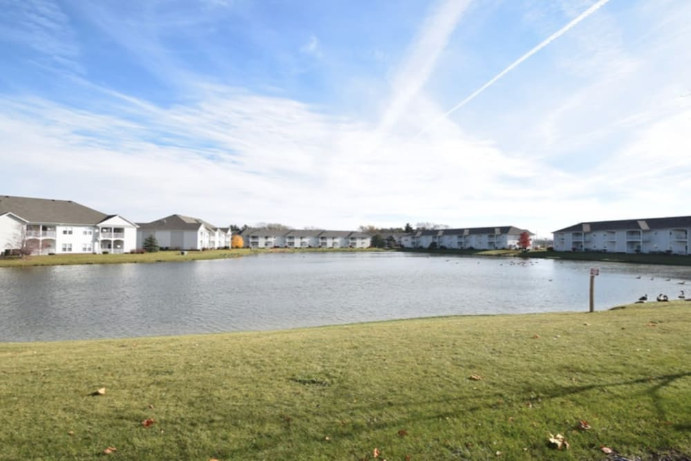 Pond at Lake Pointe Apartment Homes in Portage, Indiana