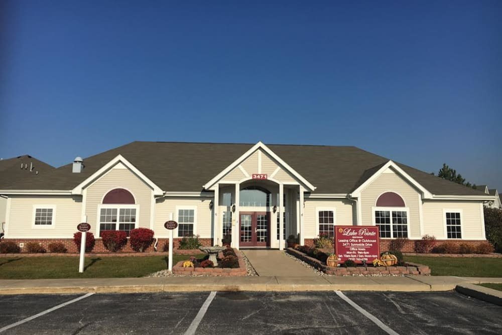Leasing office at Lake Pointe Apartment Homes in Portage, Indiana