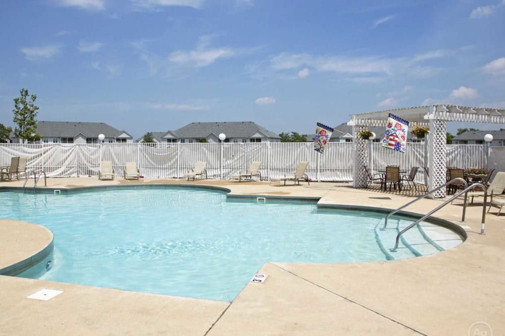 Sparkling pool at Lake Pointe Apartment Homes in Portage, Indiana