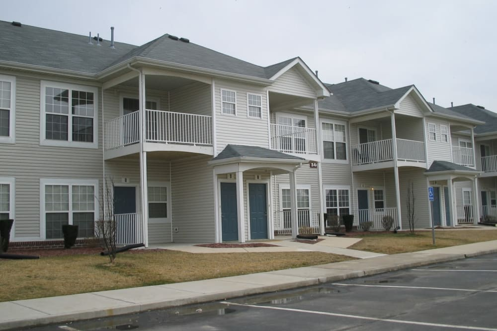 Apartment building at Lake Pointe Apartment Homes in Portage, Indiana