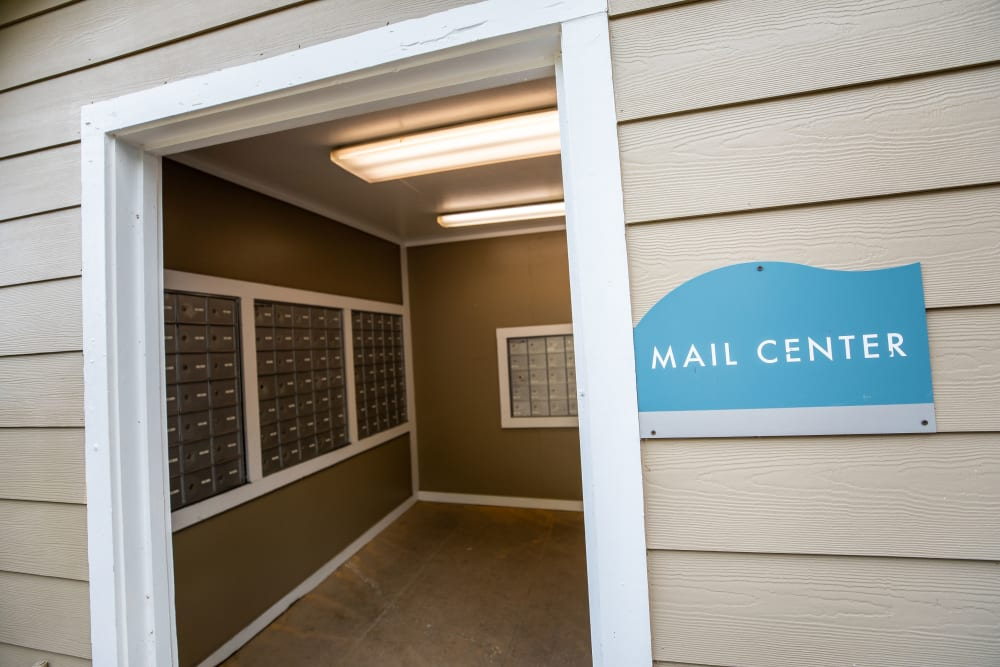 A mail center at Mill Creek Flats in Winston Salem, North Carolina
