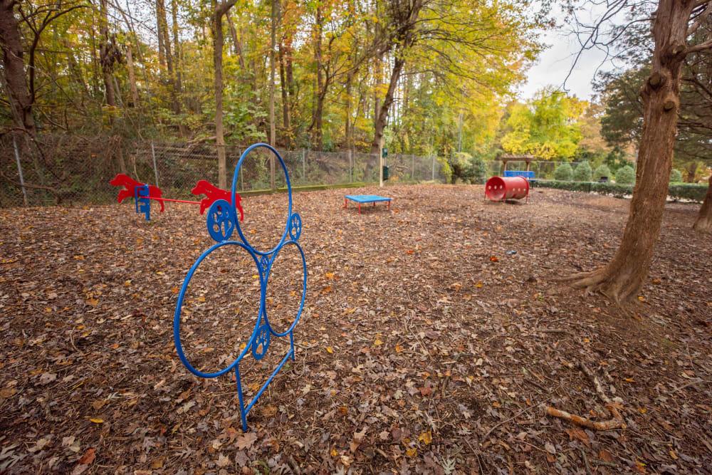 A bark park at The Corners at Crystal Lake in Winston Salem, North Carolina