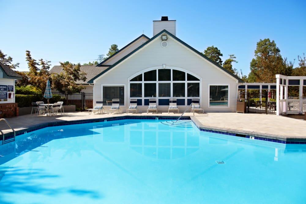 A large swimming pool at Woodlake Reserve in Durham, North Carolina