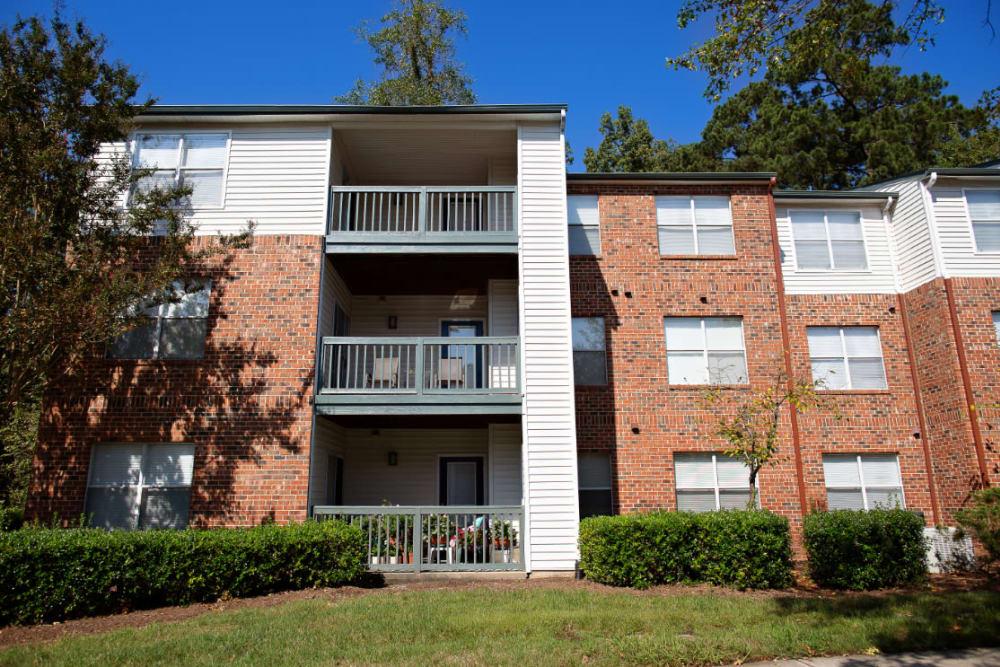 Private balconies at Woodlake Reserve in Durham, North Carolina