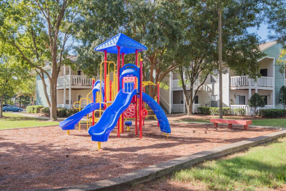 A children's playground at The Harlowe in Charlotte, North Carolina