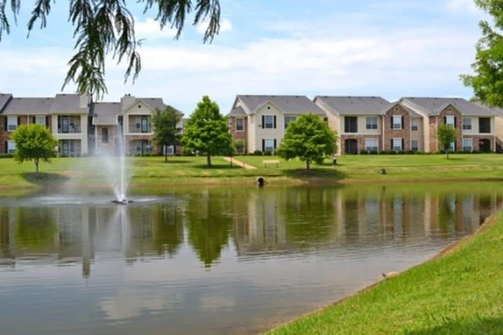 Water fountain at River Walk Apartment Homes in Shreveport, Louisiana