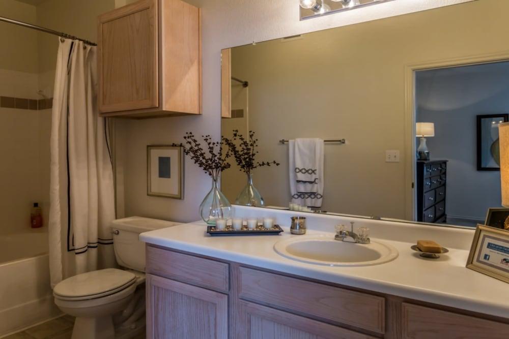 Bathroom at River Walk Apartment Homes in Shreveport, Louisiana