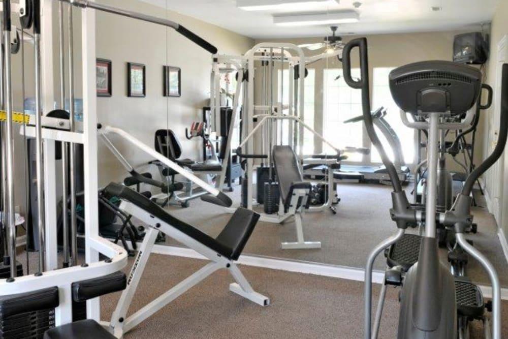 Fitness center at Rivoli Run Apartment Homes in Macon, Georgia