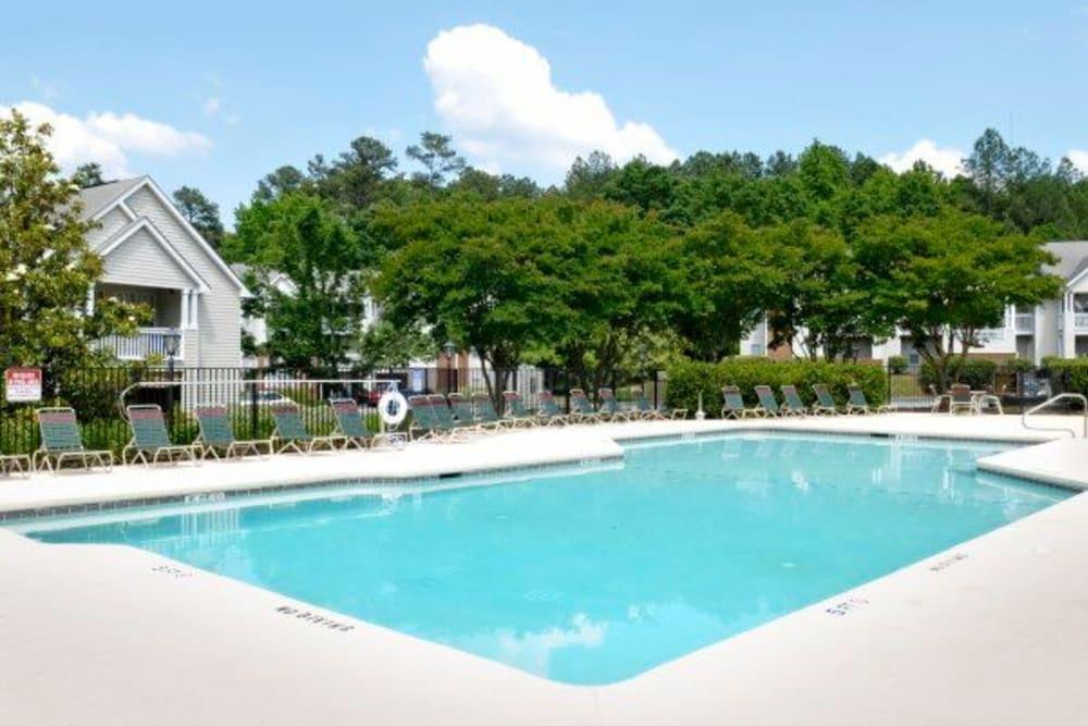 Swimming pool at Rivoli Run Apartment Homes in Macon, Georgia
