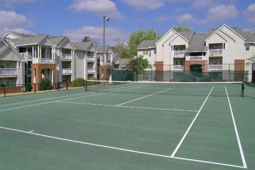 Tennis courts at Rivoli Run Apartment Homes in Macon, Georgia