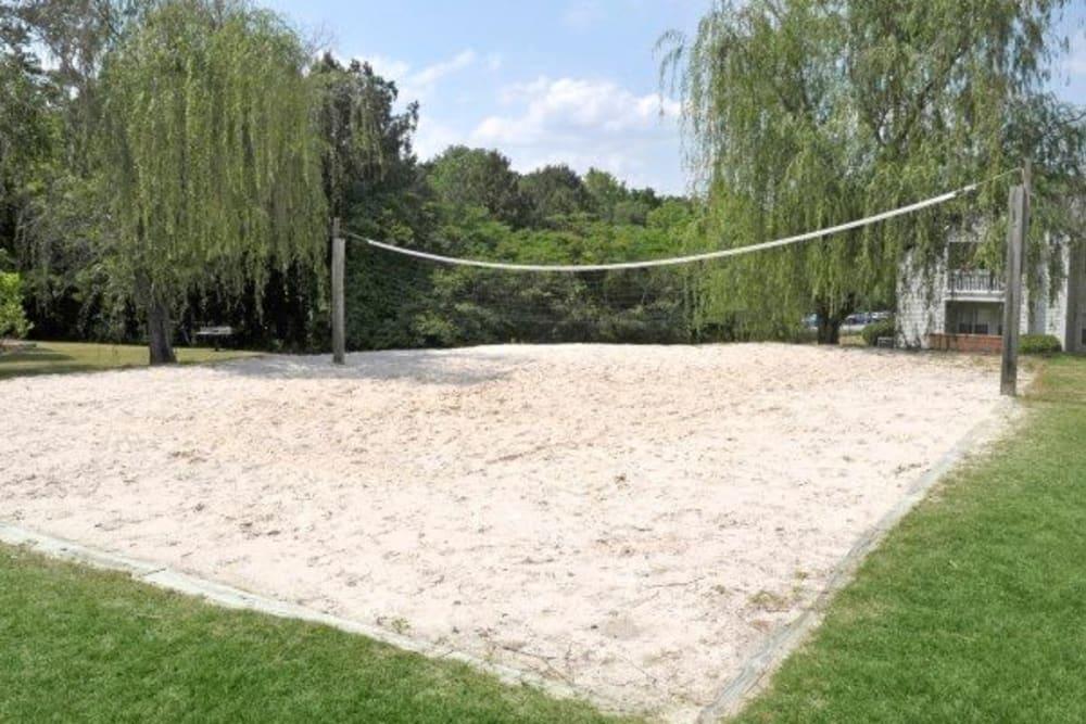 Sand volleyball at Rivoli Run Apartment Homes in Macon, Georgia