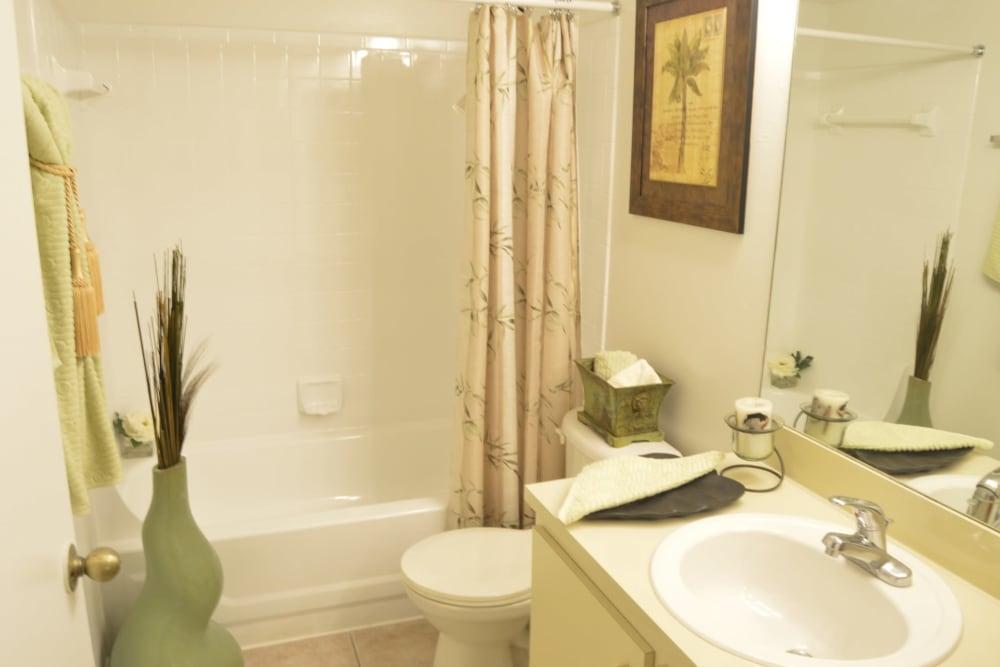 Bathroom at Savannah Place Apartments & Townhomes in Boca Raton, Florida