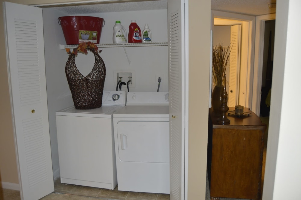 Washer and dryer at Savannah Place Apartments & Townhomes in Boca Raton, Florida