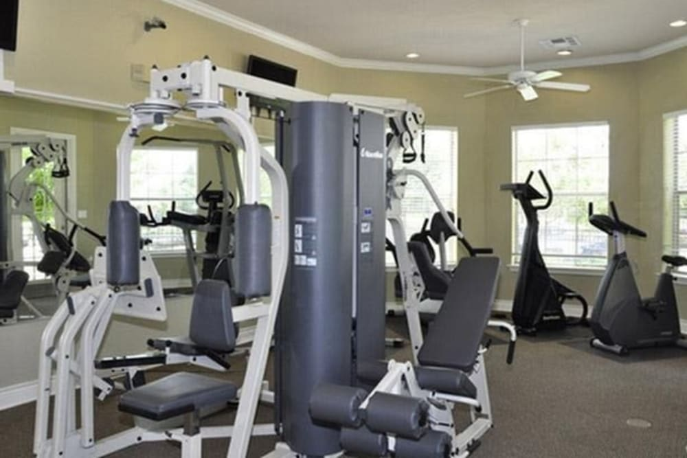 Fitness center at Stockwell Landing Apartment Homes in Bossier City, Louisiana