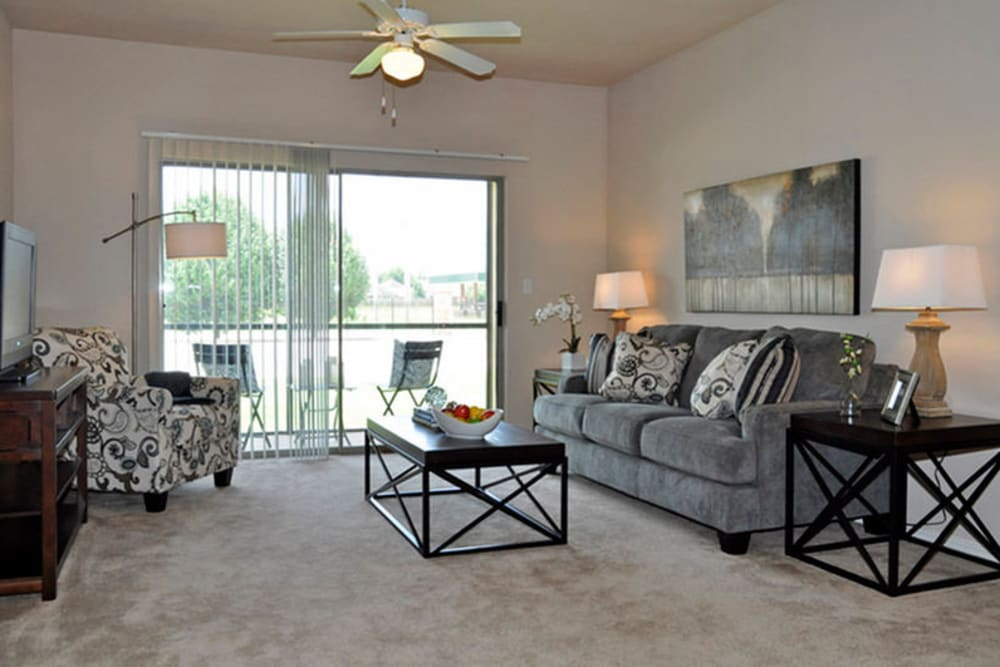 Living room at Stockwell Landing Apartment Homes in Bossier City, Louisiana