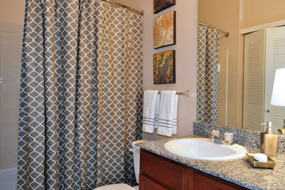 Bathroom at Stockwell Landing Apartment Homes in Bossier City, Louisiana