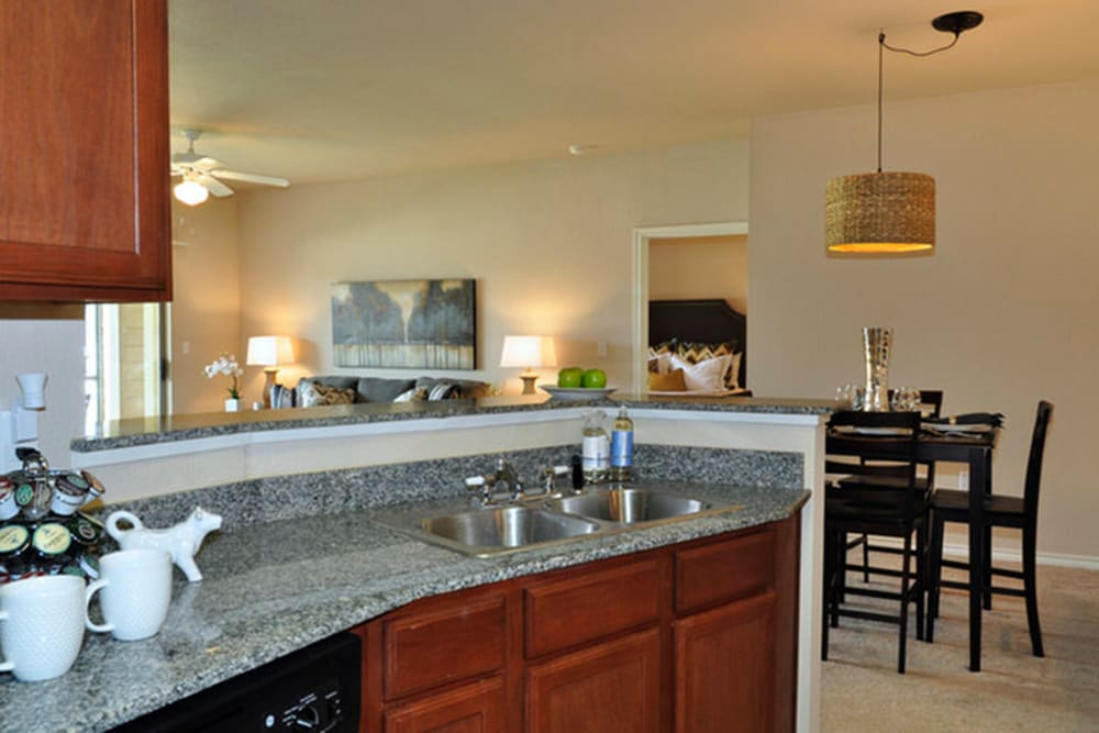 Kitchen at Stockwell Landing Apartment Homes in Bossier City, Louisiana