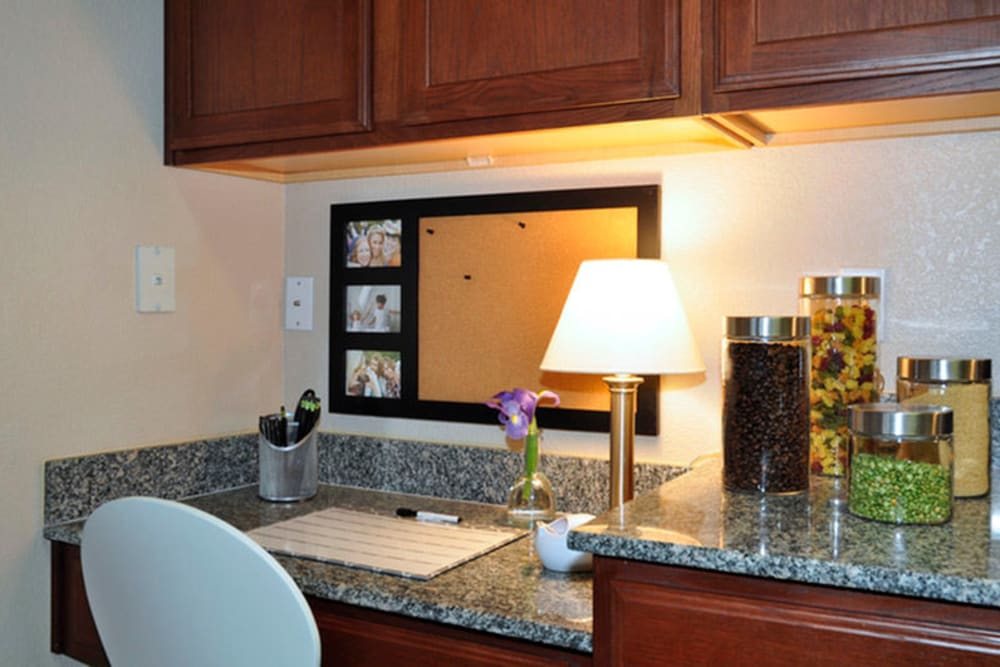 Desk at Stockwell Landing Apartment Homes in Bossier City, Louisiana