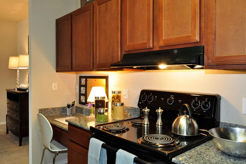 Kitchen counter at Stockwell Landing Apartment Homes in Bossier City, Louisiana