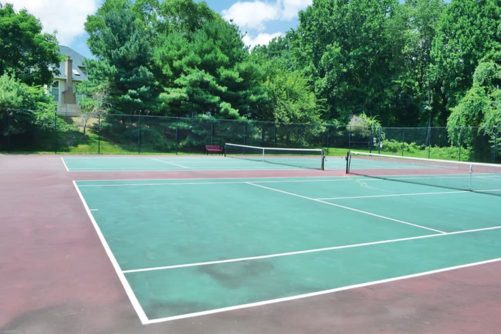 Tennis courts at Tamarron Apartment Homes in Olney, Maryland