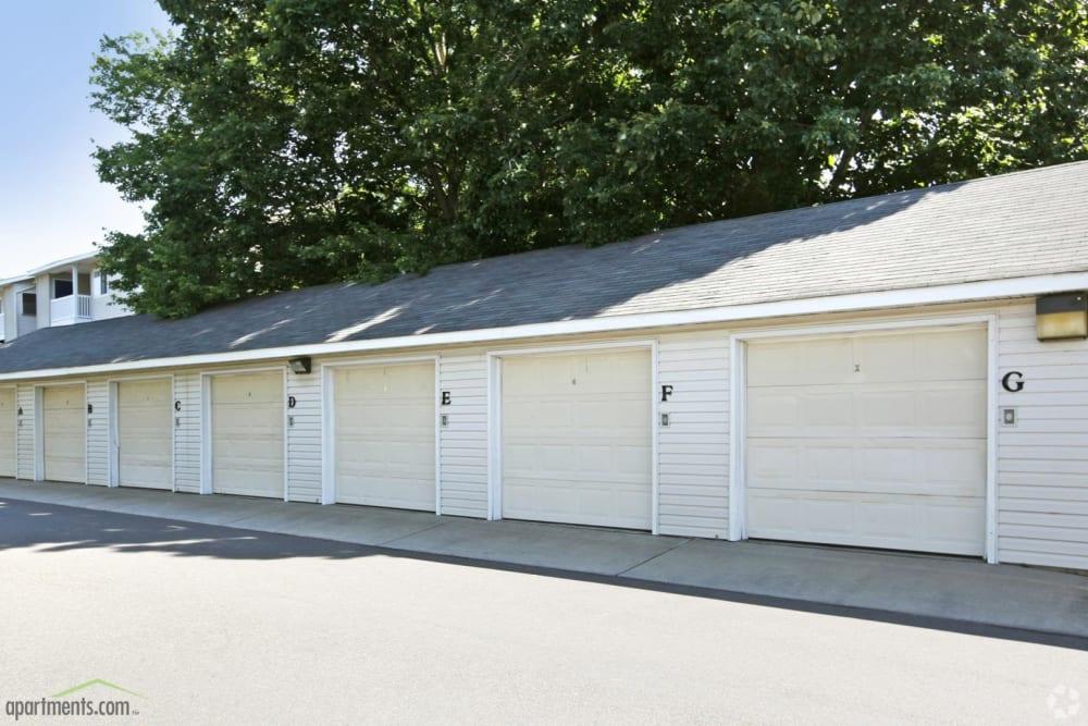 Covered garages at The Samuel in Hampton, Virginia