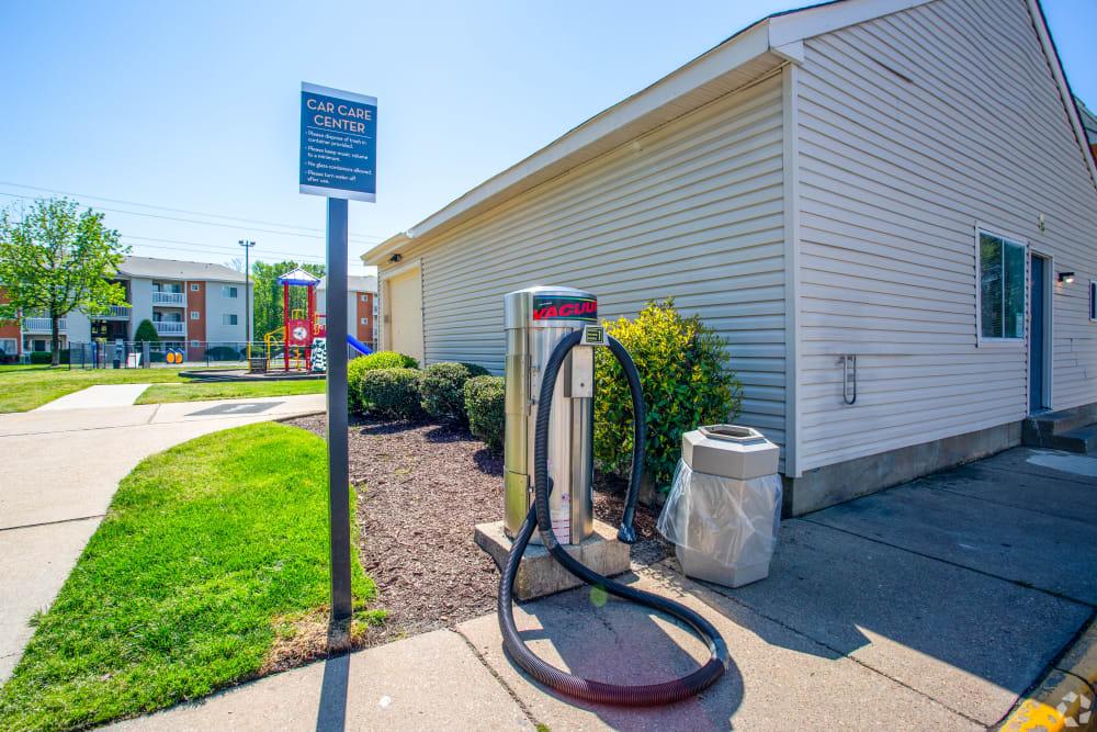 An electric vehicle hook upat The Samuel in Hampton, Virginia