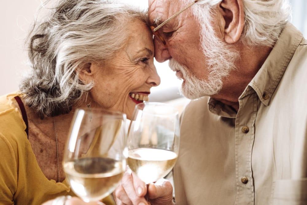 Happy senior living residents of a Ray Stone Inc. community