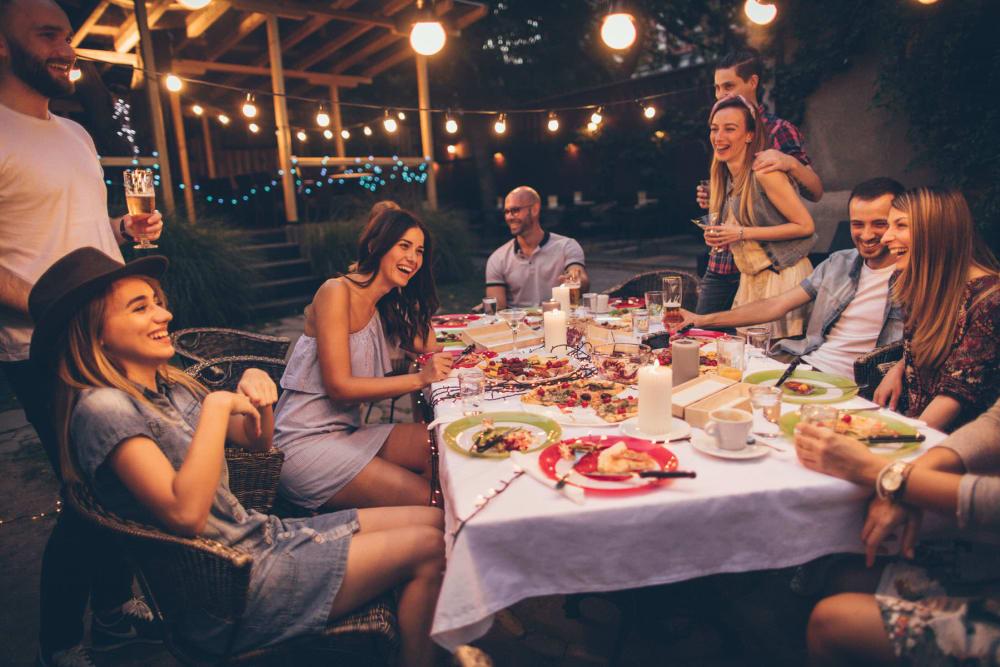 Backyard dining at Cyrene at South Mountain in Phoenix, Arizona