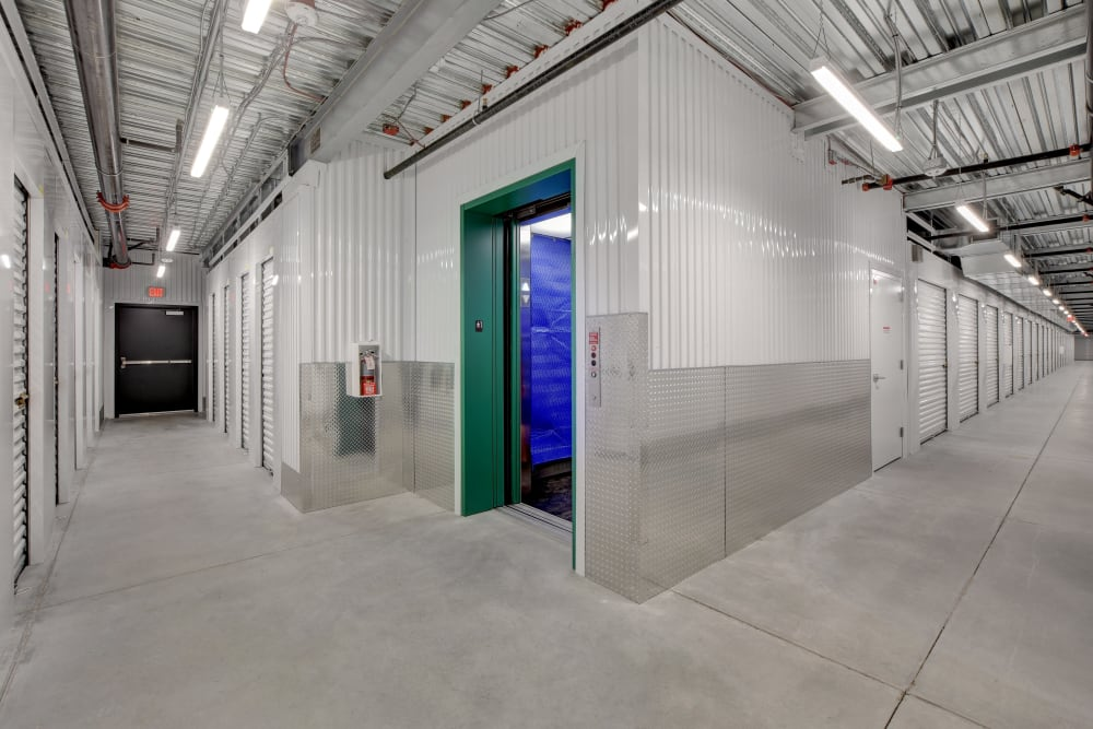 Hallways of interior units at Towne Storage - Arville in Las Vegas, Nevada