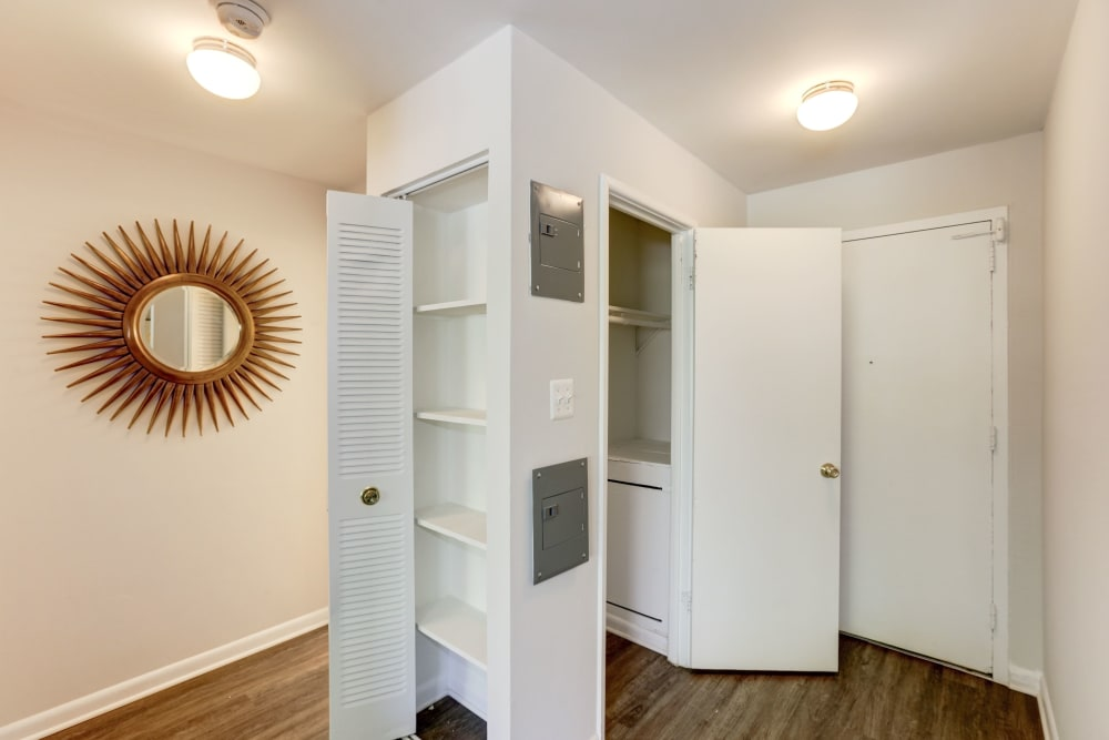 Plenty of closet space at The Landings I & II Apartments in Alexandria, Virginia