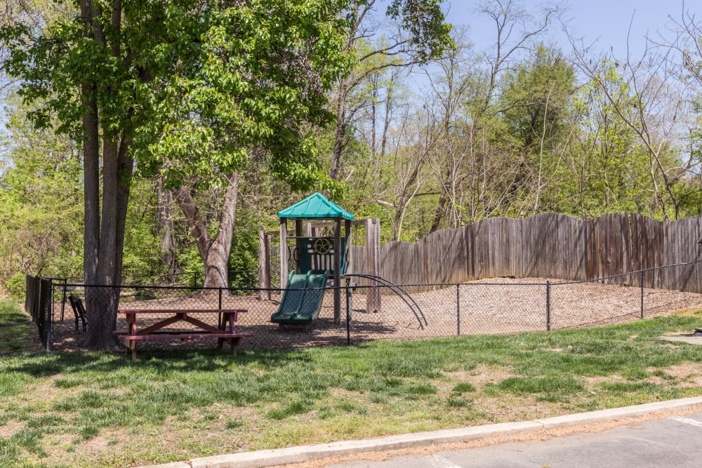 A children's playground at The Landings I & II Apartments in Alexandria, Virginia