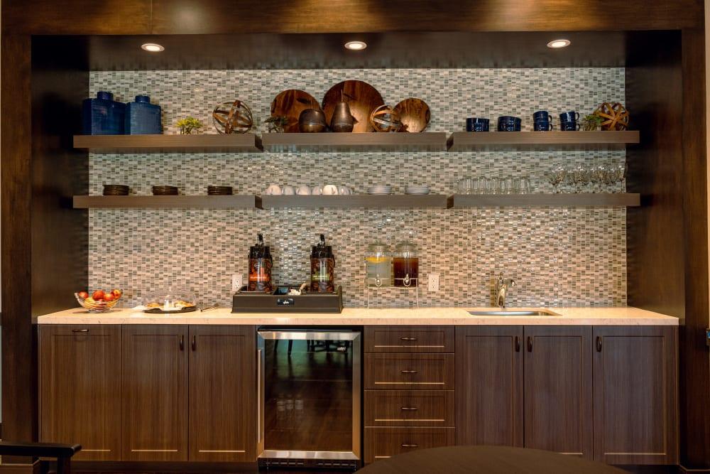 A kitchenette at Park Visalia in Visalia, California.