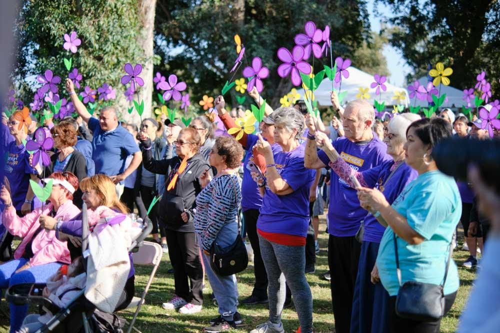 Residents at an event near Park Visalia in Visalia, California.