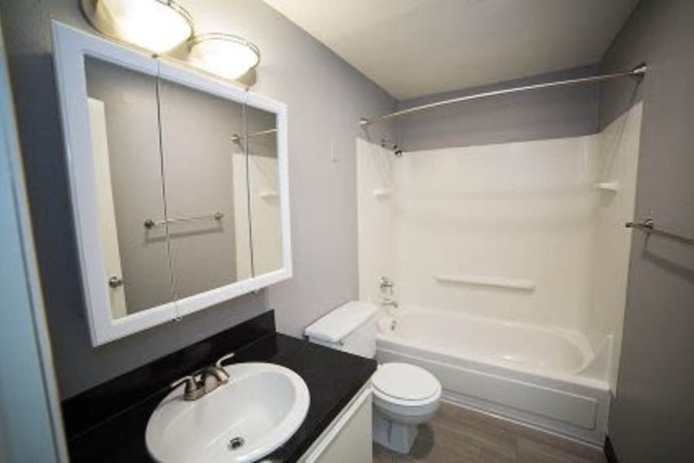 Bathroom in a model home at Courtyards at Cedar Hills in Beaverton, Oregon
