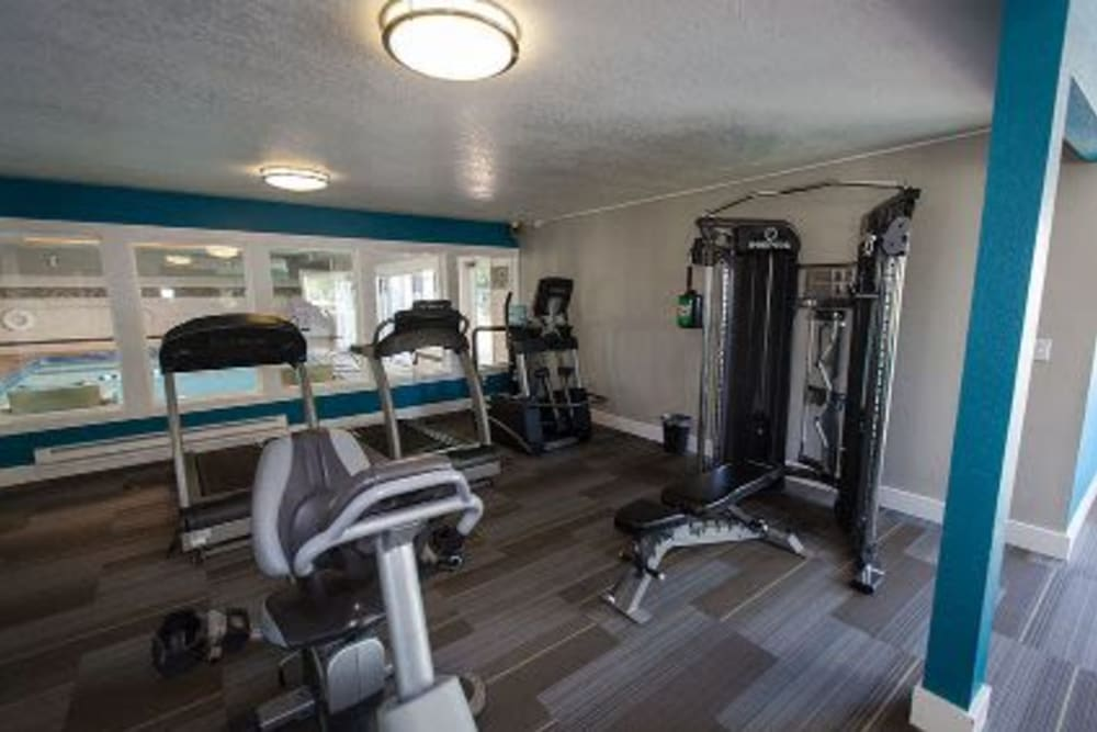 Fitness center at Courtyards at Cedar Hills in Beaverton, OR