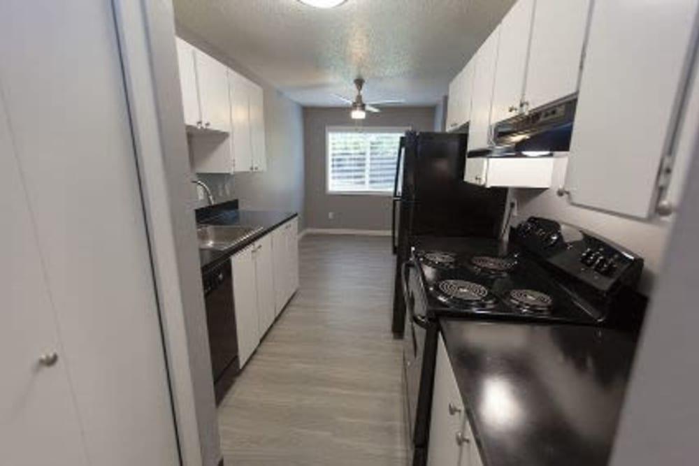 Modern kitchen at Courtyards at Cedar Hills in Beaverton, Oregon