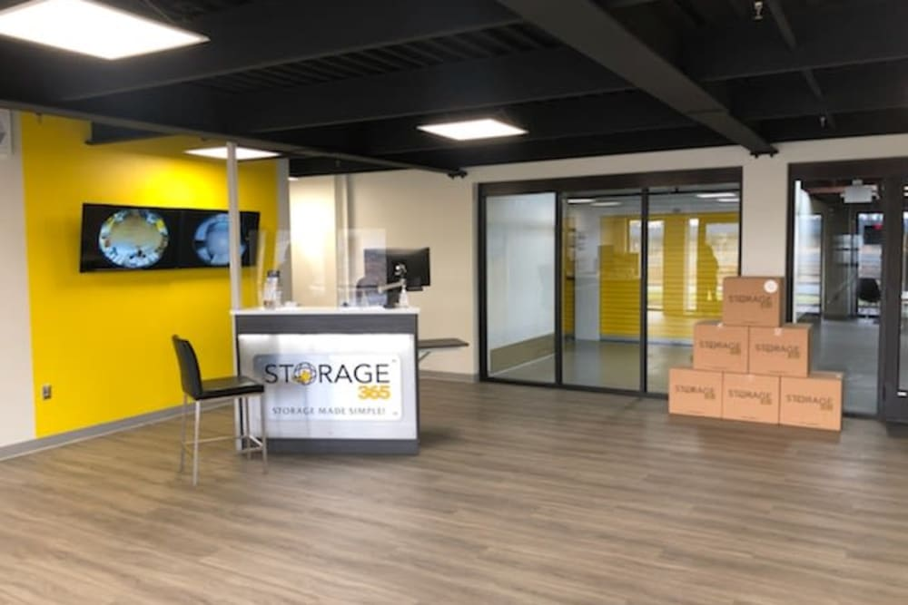Front office at Storage 365 in St. Paul, Minnesota