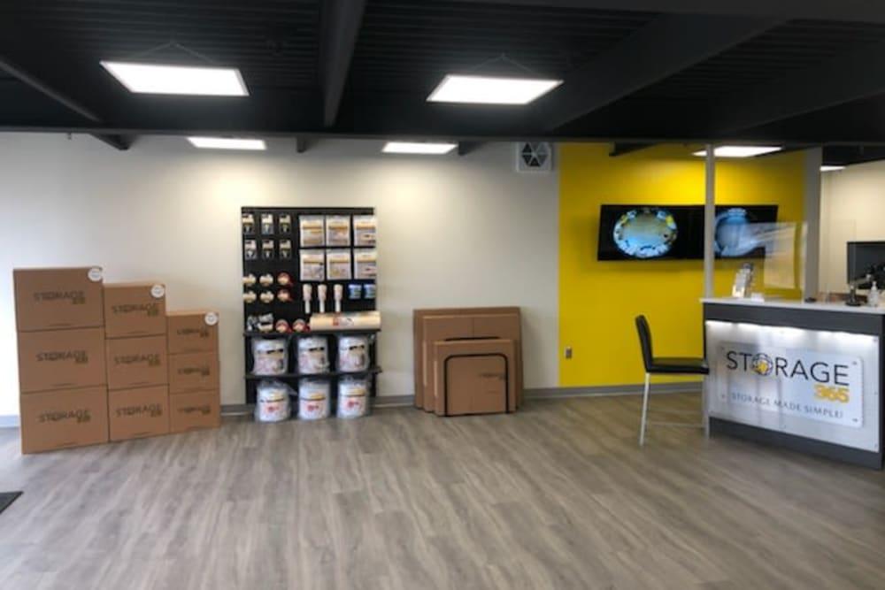 Storage supplies sold at Storage 365 in St. Paul, Minnesota