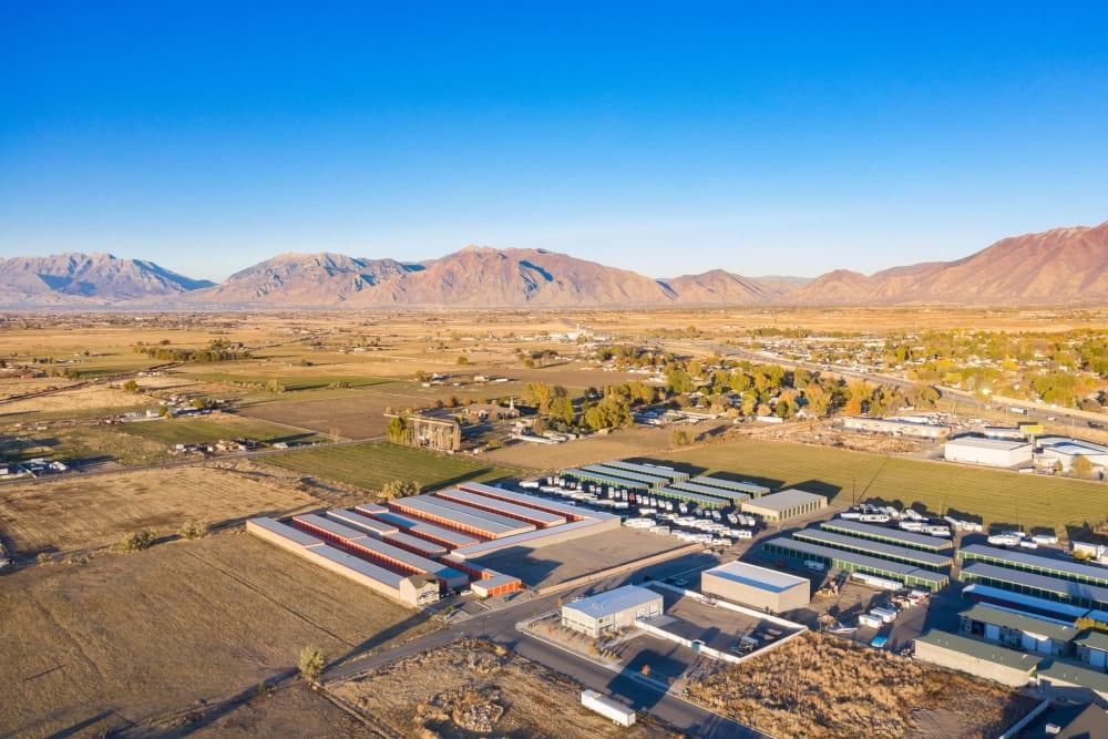 Aerial scenic image of Stor'em Self Storage in Payson, Utah