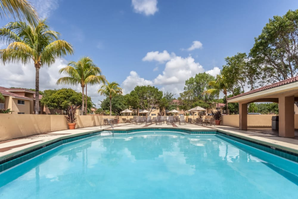 Enjoy Apartments with a Swimming Pool at Fairway View Apartments in Hialeah, Florida