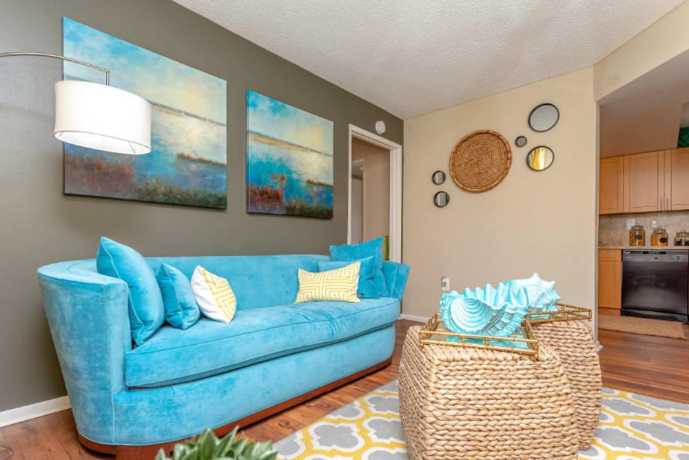 Living Room at Fairway View Apartments in Hialeah, Florida