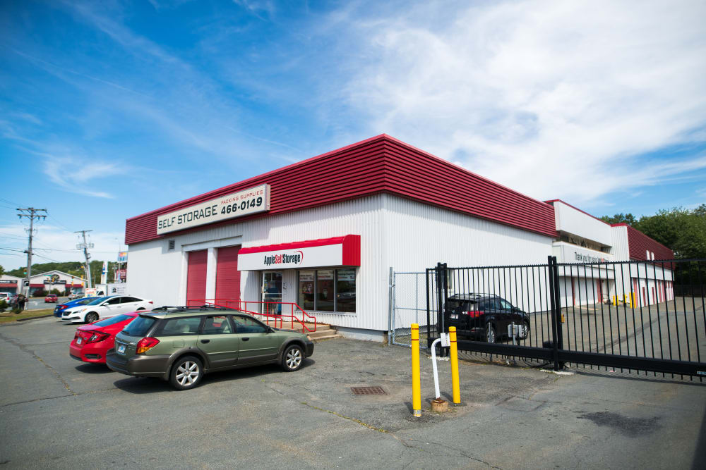 Exterior of our office suite building at Apple Self Storage - Dartmouth in Dartmouth, Nova Scotia